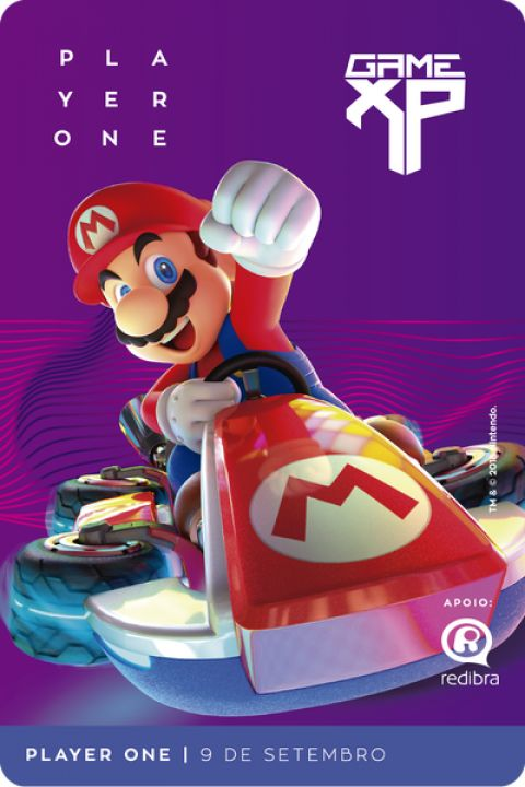 Game XP 2018 revela credenciais com artes do Mario Kart!